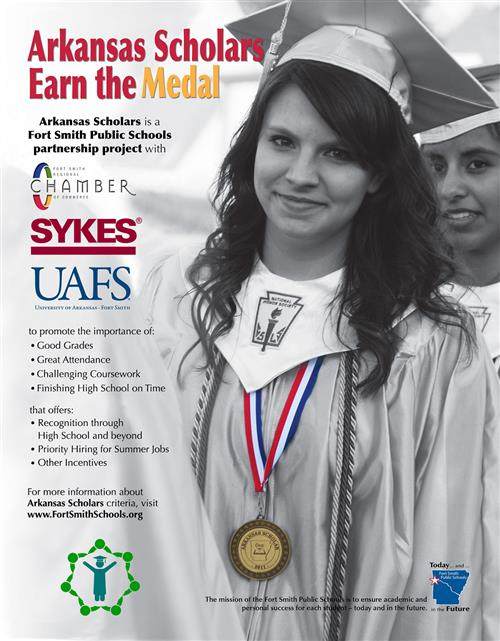 Arkansas Scholars Earn the Medal - Arkansas Scholars is a Fort Smith Public Schools partnership project.