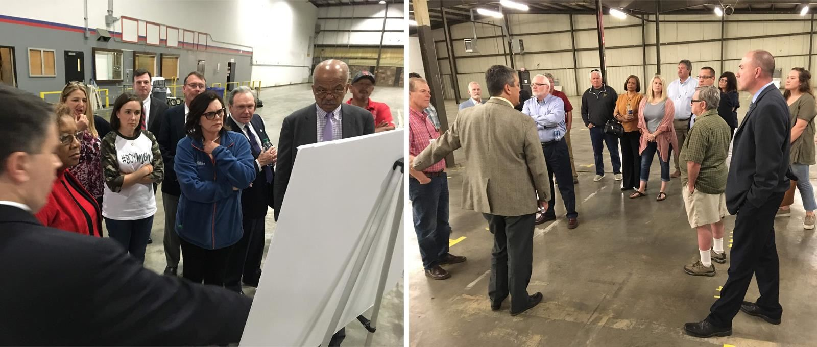 CMAC Members touring the future CTC facility