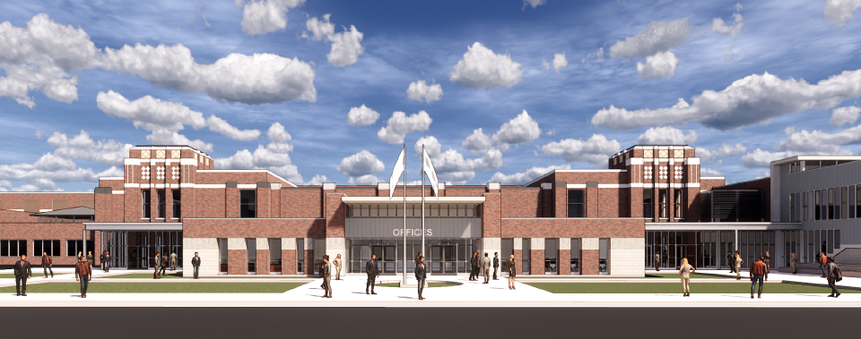 NHS Building Perspective-Administrative Addition