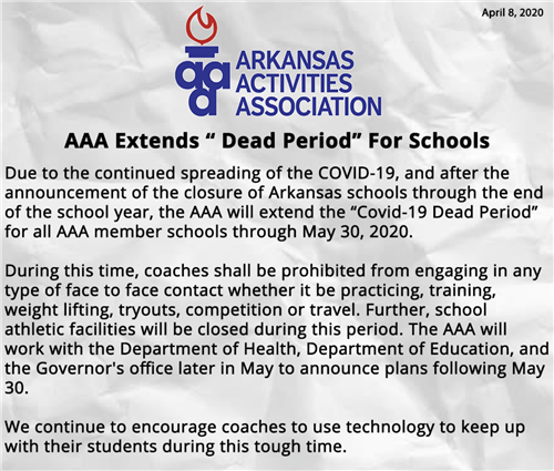 AAA Extends Dead Period for Schools