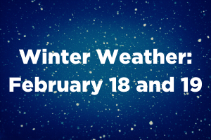 Winter Weather: February 18 and 19